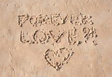 na zawsze miłość Fotografia Royalty Free