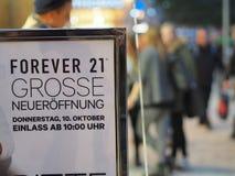 NA ZAWSZE 21 otwiera Munich Obrazy Stock