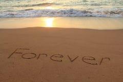 Na zawsze plaża Obraz Royalty Free