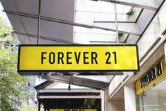 21 na zawsze sklep Obraz Royalty Free