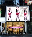 Na zawsze 21, times square sklep detaliczny NYC Obraz Stock