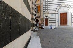 Na zewnątrz kościół Monterosso w Cinque Terre Fotografia Royalty Free