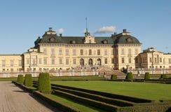 Na zewnątrz Sto Drottningholm slott (pałac królewski) Zdjęcie Royalty Free