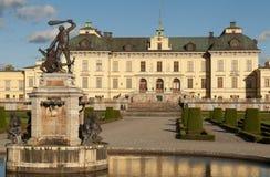 Na zewnątrz Sto Drottningholm slott (pałac królewski) Fotografia Royalty Free