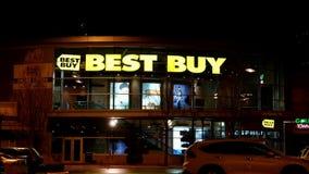 Na zewnątrz strzału Najlepszy zakupu sklep przy nocą zbiory