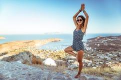 na zewnątrz zrobić kobiety jogi Zdjęcie Stock