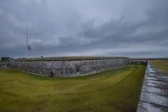 Na zewnątrz Historycznego Cywilnej wojny fortu Zdjęcia Stock