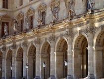 na zewnątrz Paris louvre muzeum Zdjęcie Royalty Free