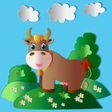 Na zielonej trawie royalty ilustracja