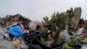 Na ziemi rozpraszający stosy śmieci swobodny ruch zbiory wideo
