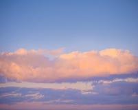 Na zmierzchu nieba tło składu projekta elementu natury raj Panoramiczny zmierzchu nieba tło Obrazy Royalty Free