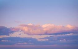 Na zmierzchu nieba tło składu projekta elementu natury raj Panoramiczny zmierzchu nieba tło Zdjęcie Stock