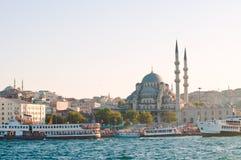 Na zmierzchu nowy meczet. Istanbuł. Turcja Zdjęcia Stock