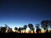 Na Zonsondergang Stock Fotografie