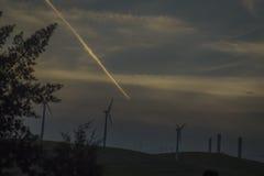 Na zonsondergang in Bethany Reservoir royalty-vrije stock fotografie