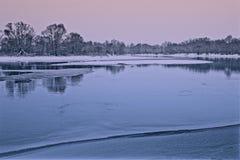 Na zonsondergang in de lente Stock Afbeelding