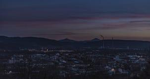 Na zonsondergang in Usti-nad Labem Stock Afbeelding
