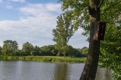 河Naab在巴伐利亚 库存照片