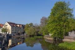 Naab em Schwandorf Fotografia de Stock