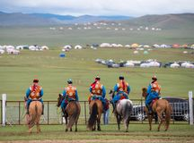 Naadam festival horse race stock photography