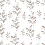 Naadloos aardpatroon met grafische brunch Hand Royalty-vrije Stock Afbeeldingen