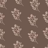 Naadloos aardpatroon met grafische brunch Hand Royalty-vrije Stock Afbeelding