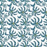 Naadloos abstract bloemenpatroon Stock Fotografie