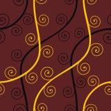 Naadloos abstract bruin patroon Stock Foto