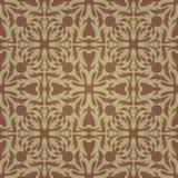 Naadloos abstract bruin patroon met gradiënt Stock Afbeelding