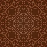 Naadloos abstract bruin patroon met gradiënt Stock Afbeeldingen