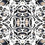 Naadloos abstract caleidoscooppatroon Luipaarddruk vector illustratie