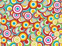 Naadloos abstract cirkelpatroon Stock Fotografie