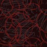 Naadloos abstract cirkels en vlekkenpatroon Royalty-vrije Stock Afbeeldingen