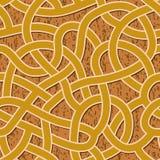 Naadloos abstract complex labyrint, labyrintweg Stock Afbeelding