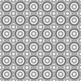 Naadloos abstract die patroon door grijze cirkels wordt gemaakt Stock Fotografie