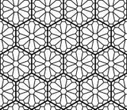 Naadloos abstract die patroon op Kumiko-ornament wordt gebaseerd stock illustratie