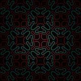 Naadloos abstract donkerrood en blauw patroon met gradiënt Stock Foto