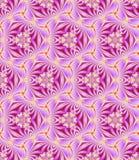 Naadloos, abstract en geometrisch uitstekend behang, roze Stock Foto