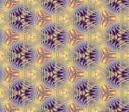 Naadloos, abstract en geometrisch uitstekend behang, zand-blauw Stock Afbeelding