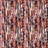 Naadloos abstract etnisch ikatpatroon Heldere rode, oranje achtergrond stock afbeeldingen
