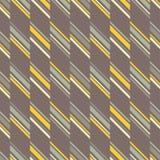 Naadloos abstract geel en grijs geometrisch patroon Stock Foto's