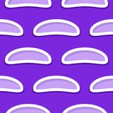 Naadloos abstract geometrisch 3d patroon Violette en lilac achtergrond Royalty-vrije Stock Foto