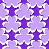 Naadloos abstract geometrisch 3d patroon Violette en lilac achtergrond Royalty-vrije Stock Afbeelding