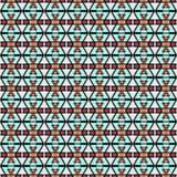 Naadloos abstract geometrisch patroon Stock Foto