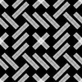 Naadloos abstract geometrisch patroon De textuur van het mozaïek brushwork Hand het uitbroeden Gekrabbeltextuur royalty-vrije illustratie