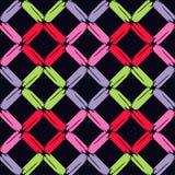 Naadloos abstract geometrisch patroon De textuur van ruit brushwork Hand het uitbroeden Gekrabbeltextuur Royalty-vrije Stock Afbeeldingen