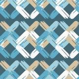 Naadloos abstract geometrisch patroon De textuur van ruit brushwork Hand het uitbroeden Gekrabbeltextuur Stock Foto