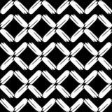 Naadloos abstract geometrisch patroon De textuur van ruit brushwork Hand het uitbroeden Gekrabbeltextuur Stock Afbeelding