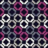 Naadloos abstract geometrisch patroon De textuur van ruit brushwork Hand het uitbroeden Gekrabbeltextuur Royalty-vrije Stock Afbeelding