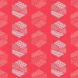 Naadloos abstract geometrisch patroon De vormen van zeshoeken Textuurstrepen, controles, punten Stock Afbeeldingen